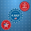 Stock Vector: Independence Day- 4 of July