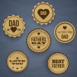 Vintage Happy Fathers Day Labels and Icons — Stock Vector