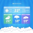 Stok Vektör: Weather Widgets