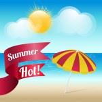Summer grunge textured background — Stock Vector