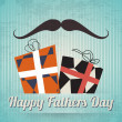 Happy fathers day vintage card — Stock Vector #25662939