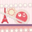 Scrapbook elements in French style — Stock Vector
