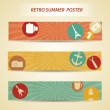 cartel de verano retro — Vector de stock