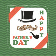 Happy fathers day vintage card — Stock Vector #25663117