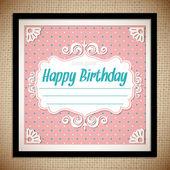 Vintage Birthday Card — Stock Vector