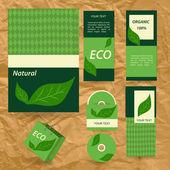 Plantillas corporativas eco seleccionado. — Vector de stock