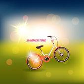 ビンテージ自転車 — ストックベクタ