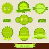 Vintage bio and eco labels — Vector de stock