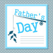 Father's day card — Stock Vector