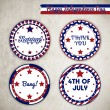 Royalty-Free Stock Vector Image: Vector independence day badges
