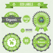 Royalty-Free Stock Vector Image: Eco labels with retro vintage design.
