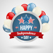 Independence day background — Vector de stock #25968349