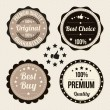 Vector set of retro labels — Imagen vectorial