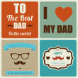 Happy father's day card vintage retro — Imagen vectorial