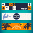 Banner set of travel  — Stock Vector