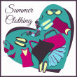 summer clothes — Stock Vector