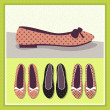 Shoes vintage illustration — Stock Vector