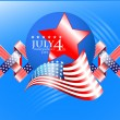 Stock Vector: USA independence day illustration
