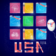USA independence day icons — Image vectorielle