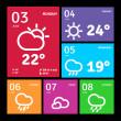 Windows 8 style icons — Stock Vector