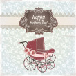 Stock Vector: Vintage happy Mother's Day card