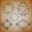Ornate vintage frame set - Stock Vector