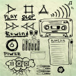 Music sketches set - Stock Vector