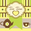 Vintage background with tea — Stock Vector #25969305