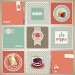 Stock Vector: Vintage menu background