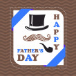 Happy fathers day card — Stock Vector #25969563
