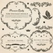 Stock Vector: Vintage design elements set