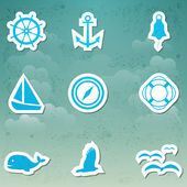 Vector set of travel icons. — Vetor de Stock