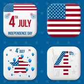 Vector independence day badges — Stock Vector