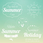 Retro summertime background — Stock Vector
