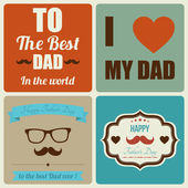 Happy father's day card vintage retro — Vettoriale Stock
