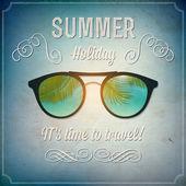 Retro summertime background — Stock Vector