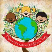 Vector background for international children day — Stock Vector