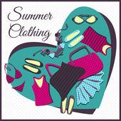 Summer clothes — Stock Vector