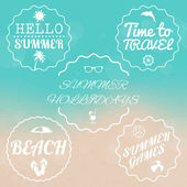 Summer sale design emblems set — Vector de stock