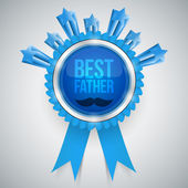Best father award — Stock Vector