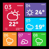 Windows 8 style icons — Stock Vector