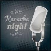 Karaoke night poster — Stock Vector