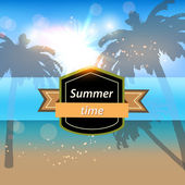 Summer time image — Stock Vector