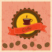 Vintage background with coffee — Stock Vector