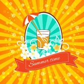 Vintage summertime background — Stock Vector