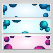 Vector set of banners — Vetor de Stock