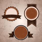 Vintage design emblems set — Stock Vector