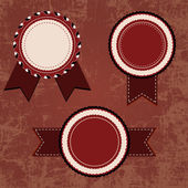Conjunto de emblemas de diseño vintage — Vector de stock