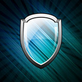 Blue shield image — Stock Vector
