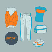 Sports clothes illustration — Stock Vector